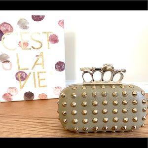 Aldo knuckle clutch purse